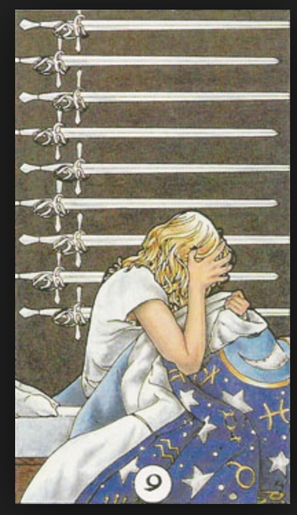 Nine of Swords – Spirit Of Despair – The tarot