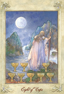 Eight of Cups – Ruler of Rejected Prosperity & Lost Success